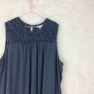 Lucky Brand | embroidered faded tank